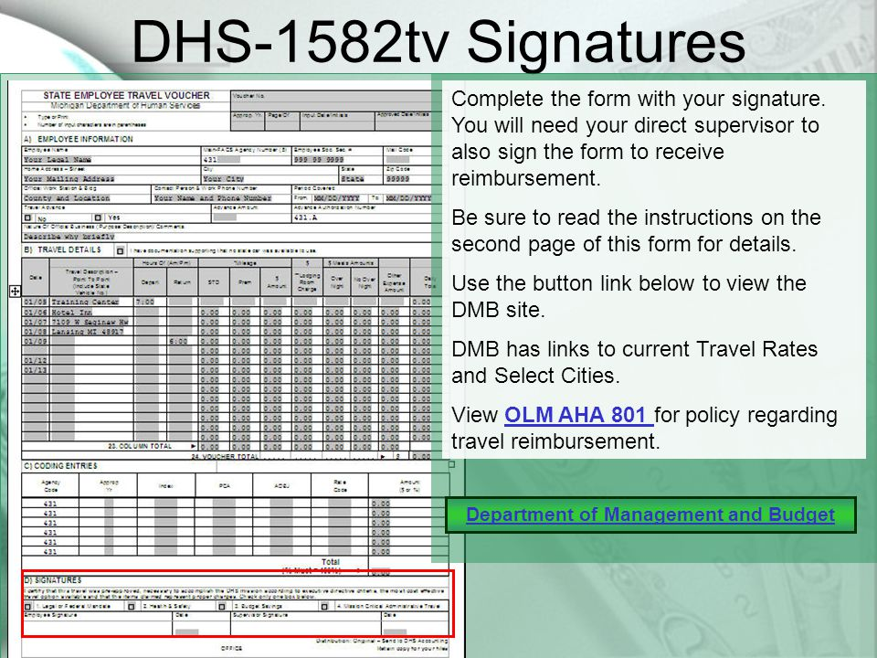 DHS-1582tv Coding Entries The Appropriations Year column is for the two digit year the reimbursement is for.