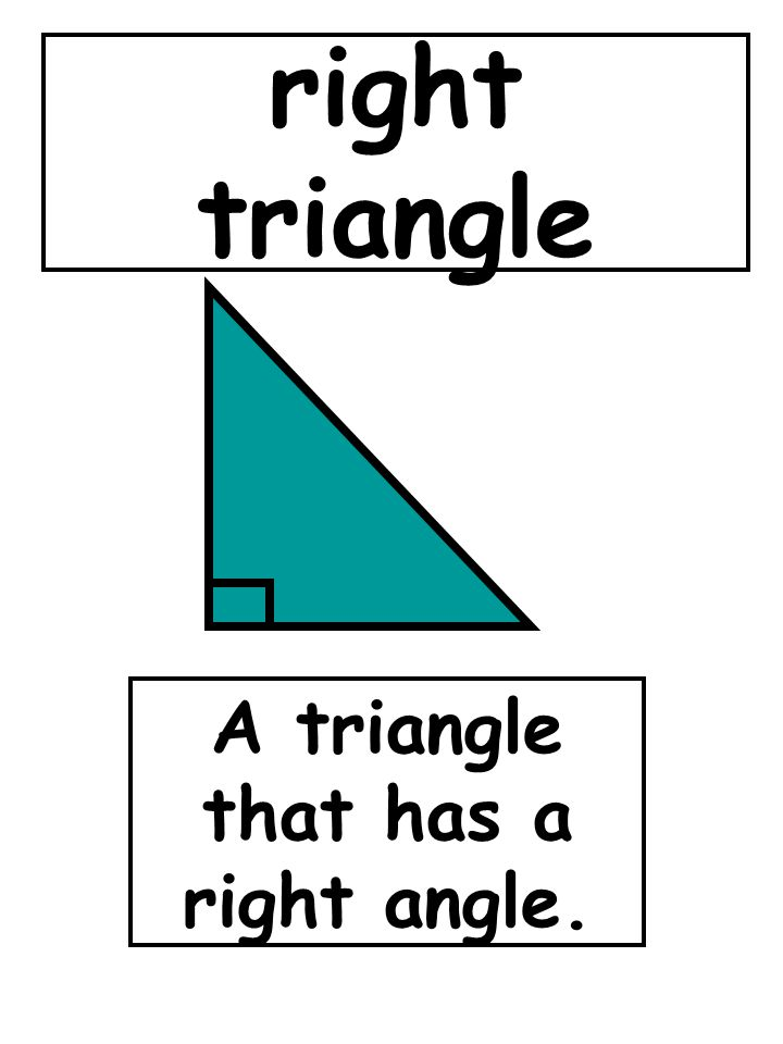 right triangle A triangle that has a right angle.