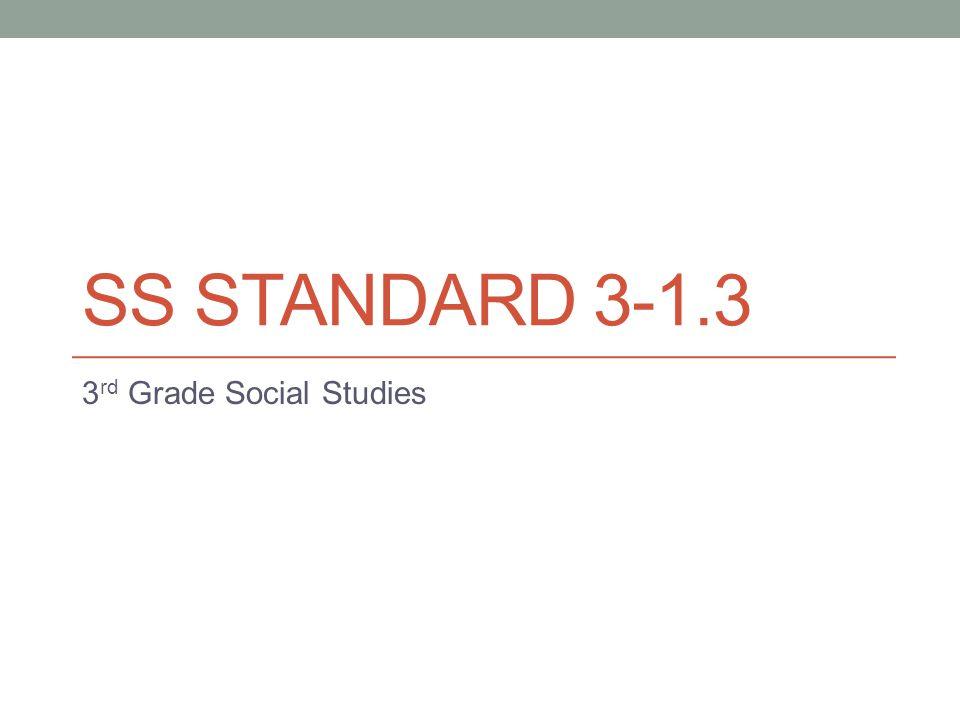 SS STANDARD 3-1.3 3 rd Grade Social Studies