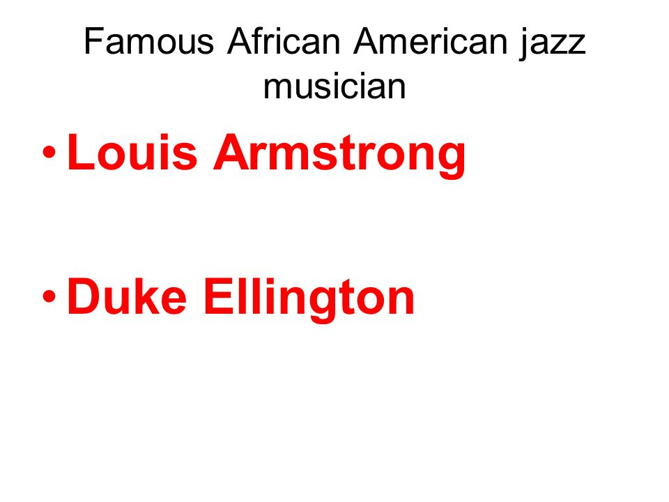 Louis Armstrong Duke Ellington