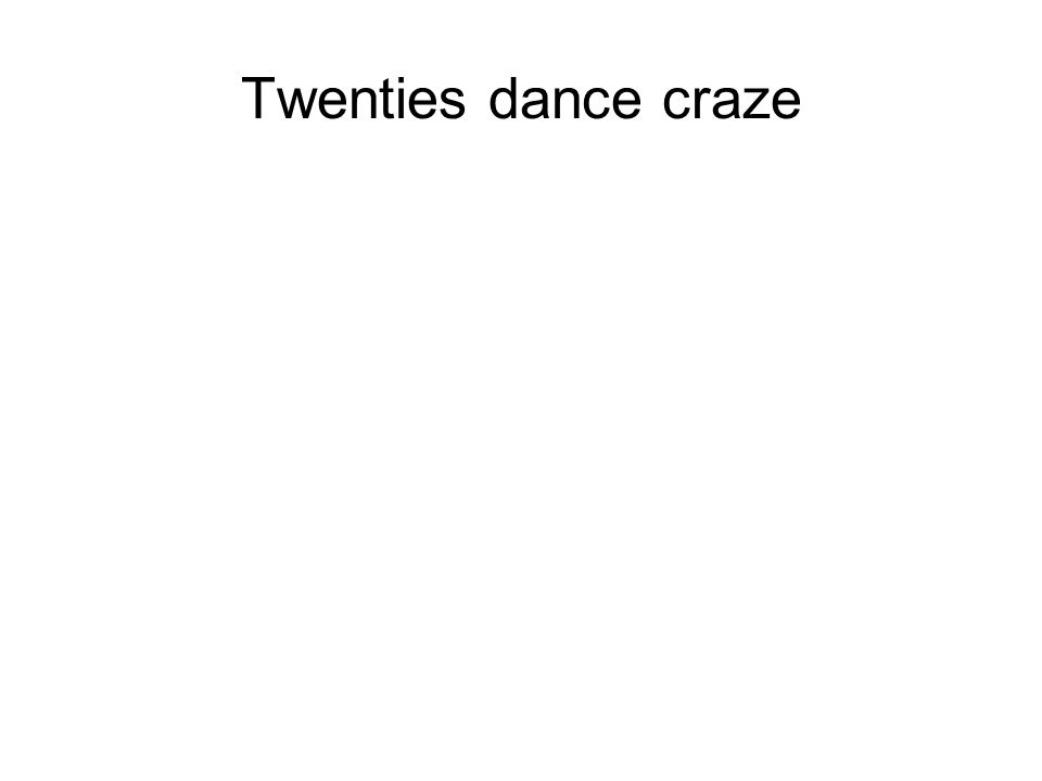 Twenties dance craze