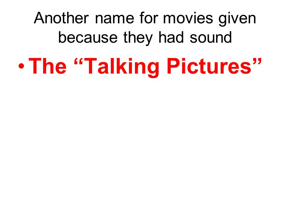 The Talking Pictures