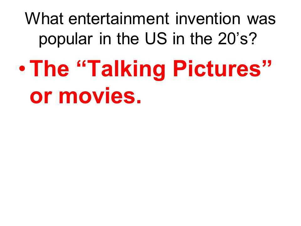 The Talking Pictures or movies.