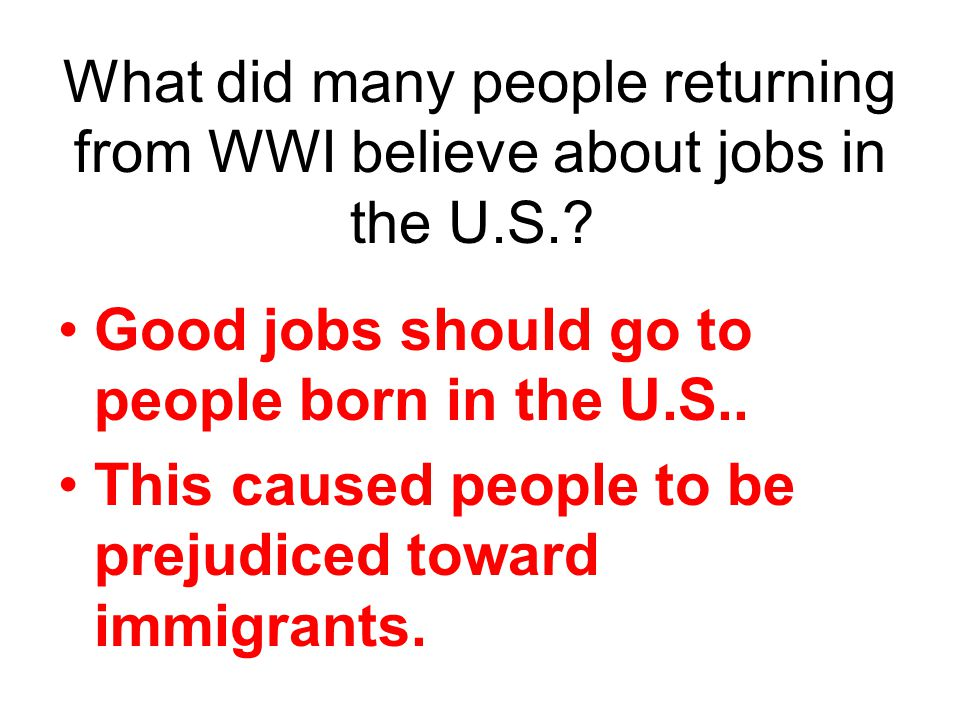Good jobs should go to people born in the U.S..