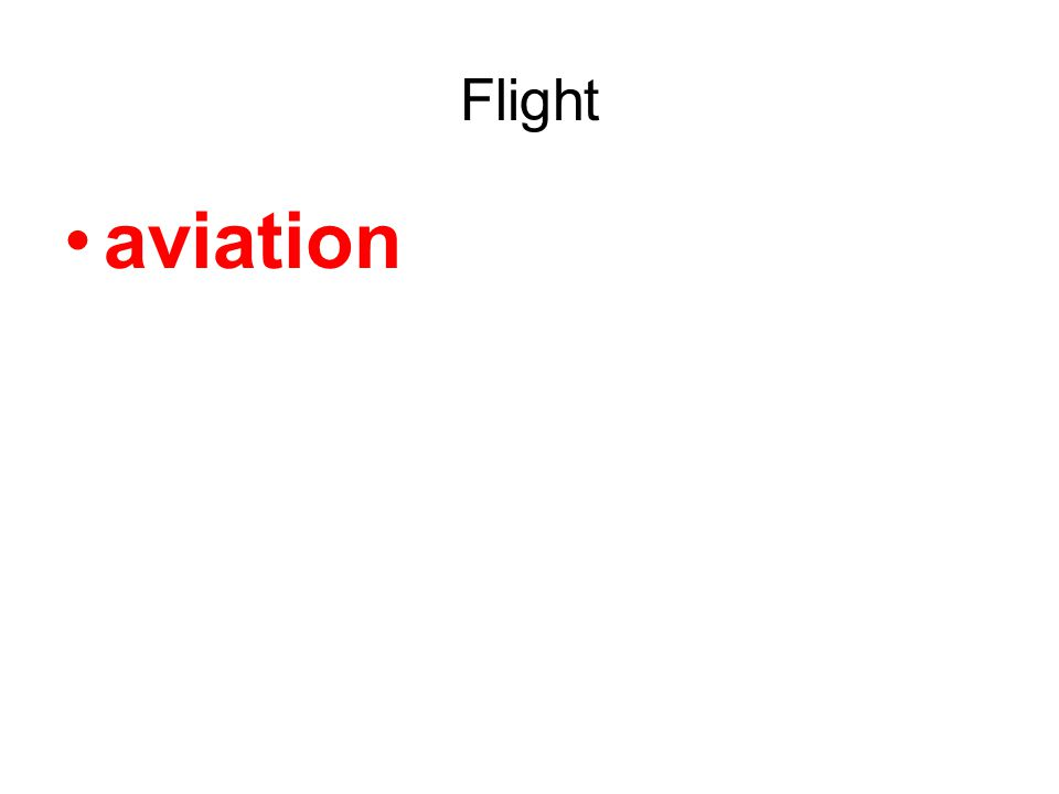 Flight aviation