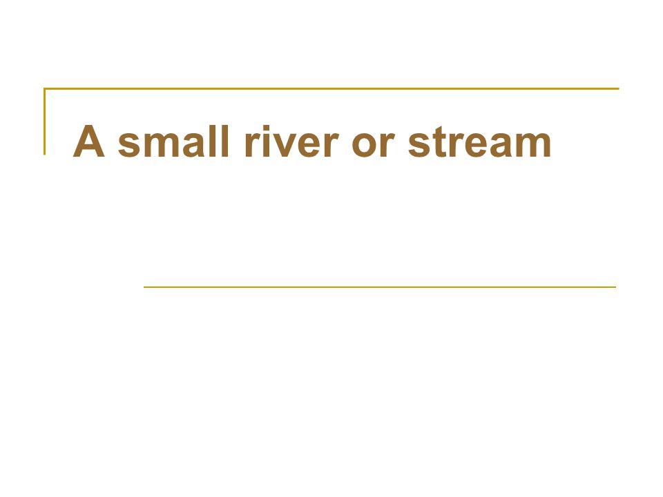A small river or stream