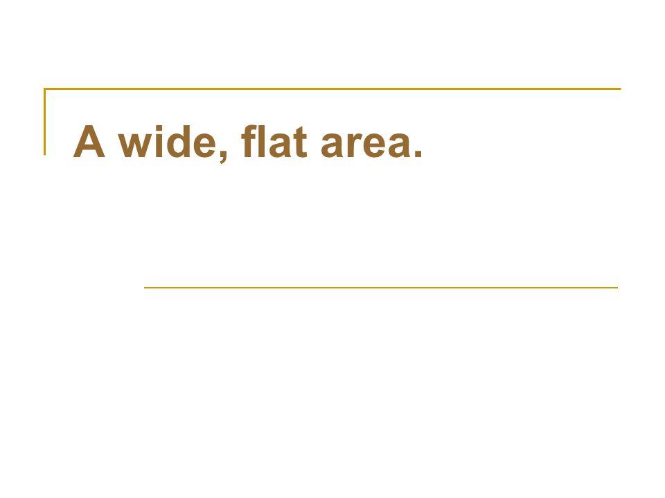 A wide, flat area.
