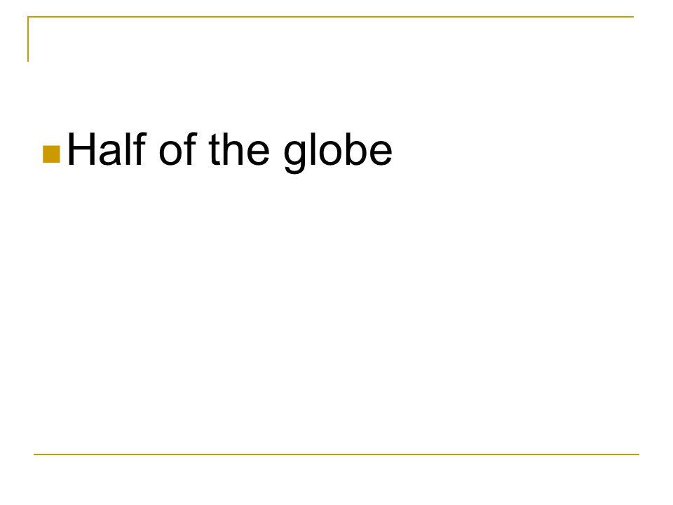 Half of the globe