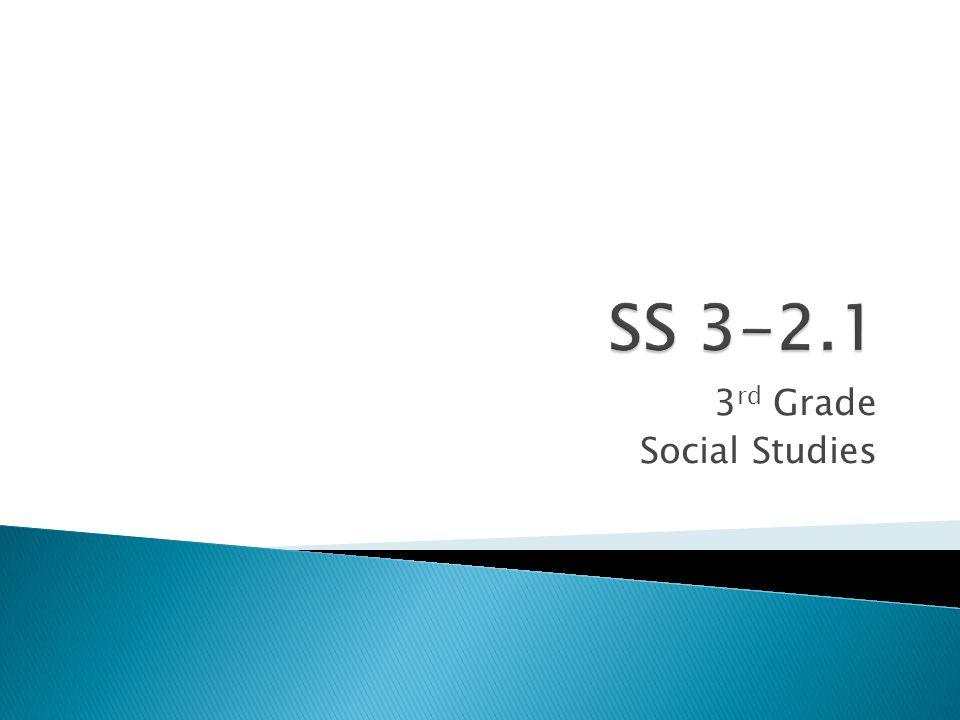3 rd Grade Social Studies