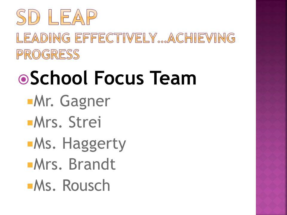  School Focus Team  Mr. Gagner  Mrs. Strei  Ms. Haggerty  Mrs. Brandt  Ms. Rousch