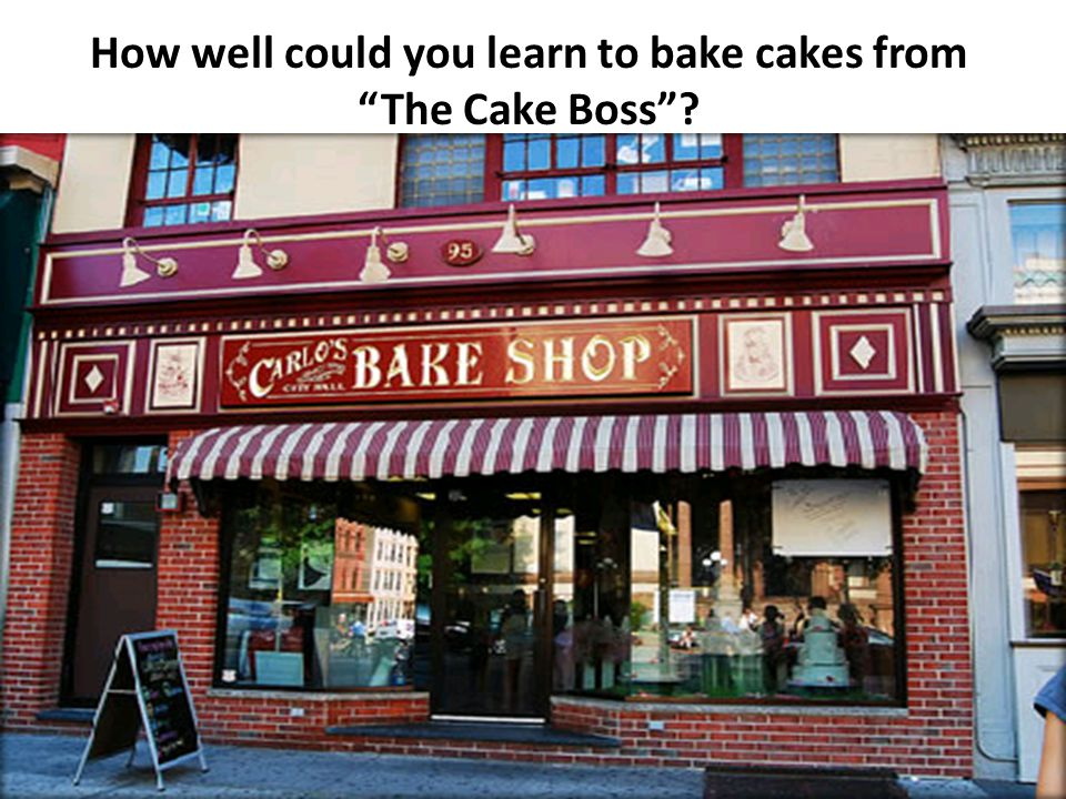 """How well could you learn to bake cakes from """"The Cake Boss""""?"""