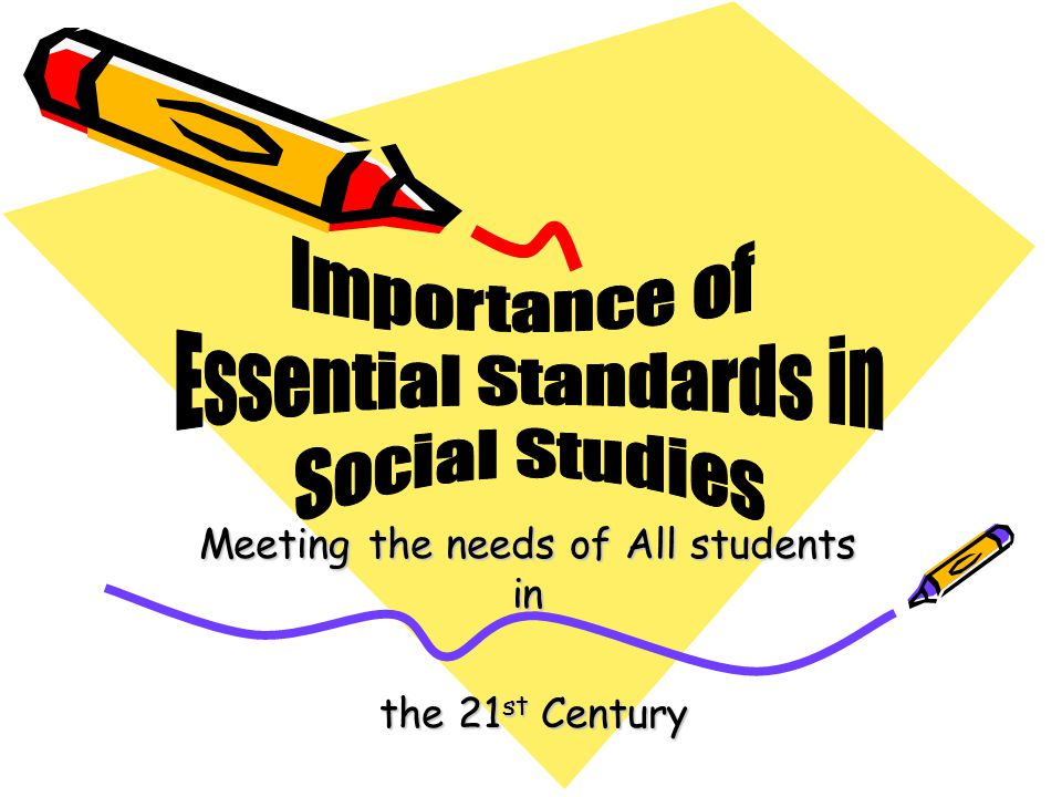 Meeting the needs of All students in the 21 st Century the 21 st Century