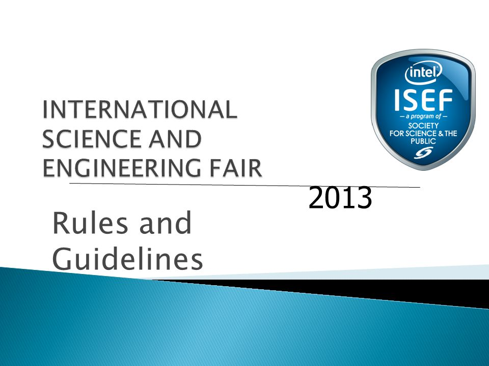 Rules and Guidelines 2013