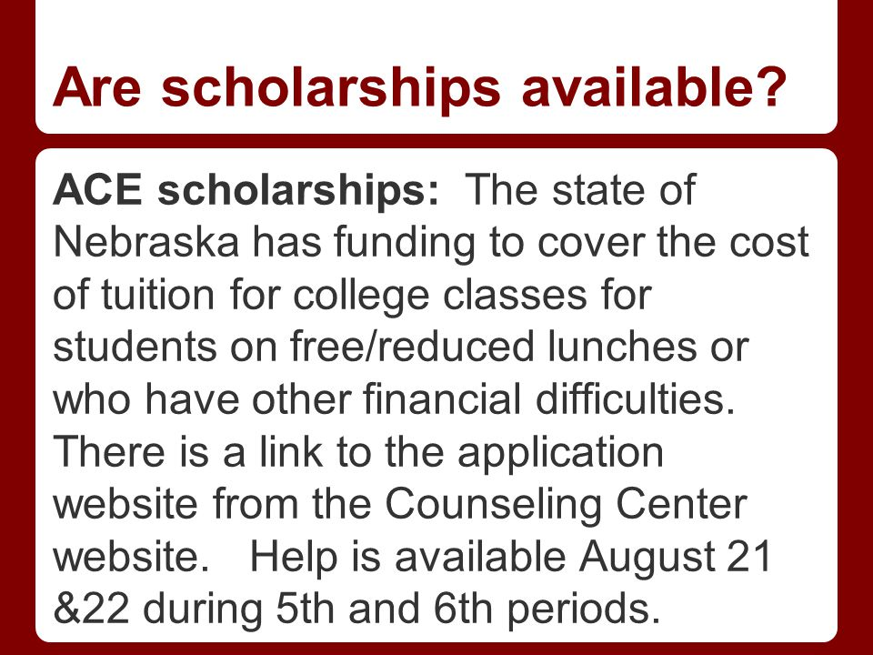 Are scholarships available.