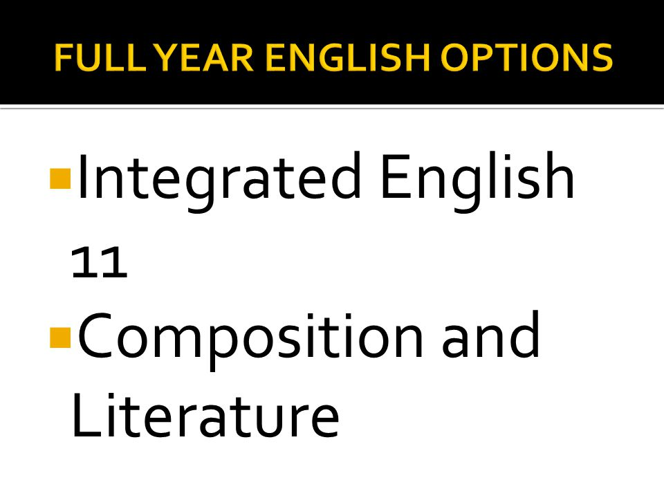 Integrated English 11  Composition and Literature