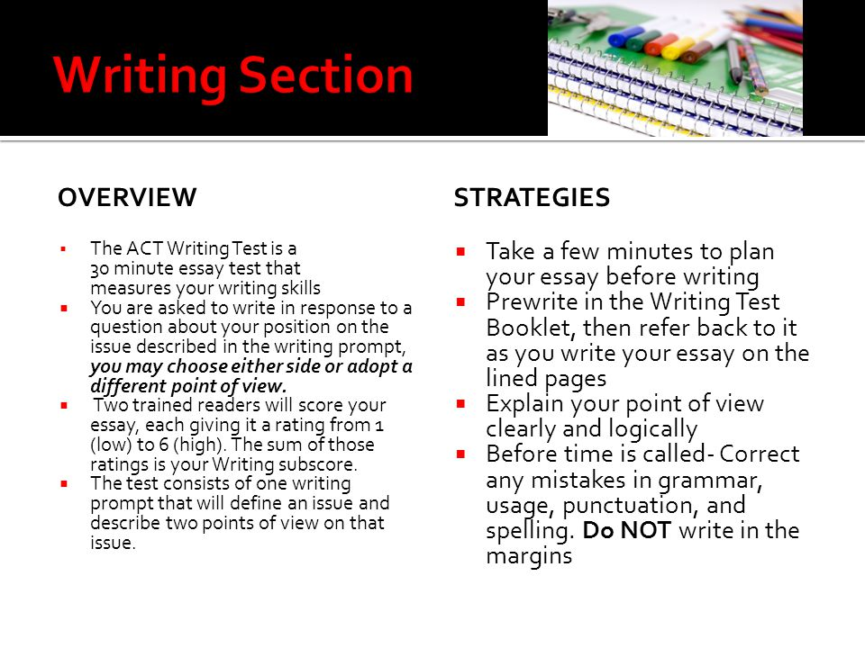 Question about ACT writing portion of the test?