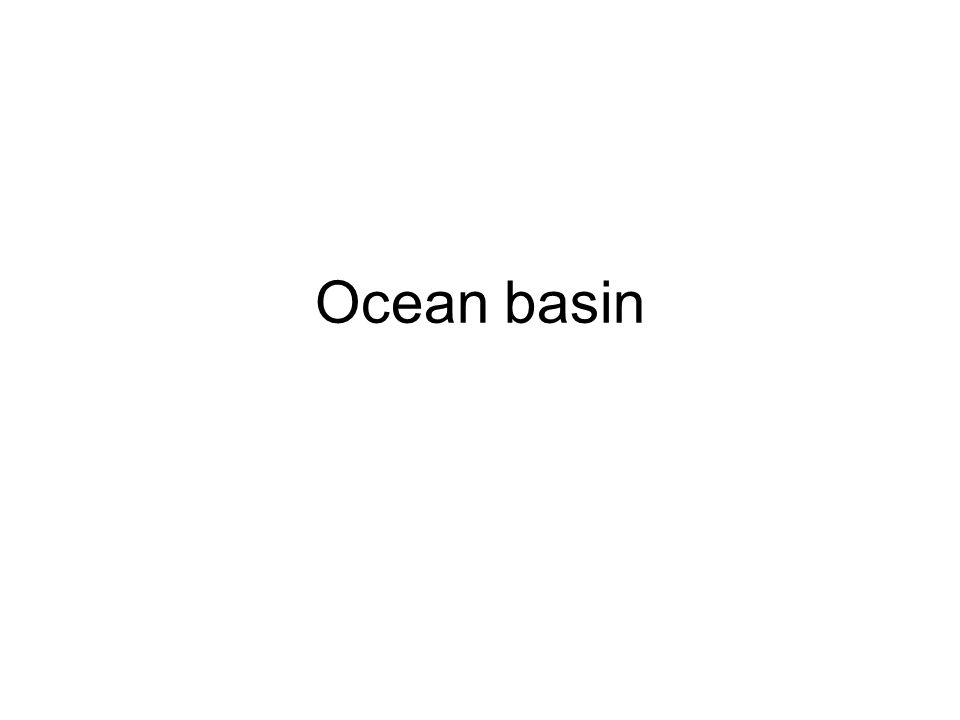 Ocean basin