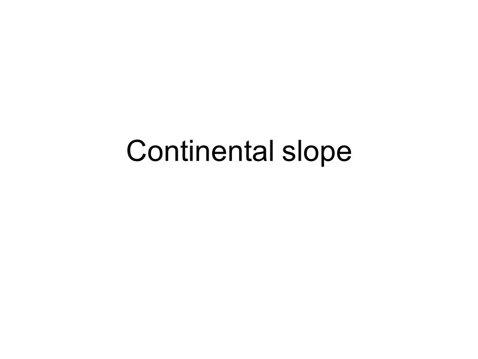 Continental slope