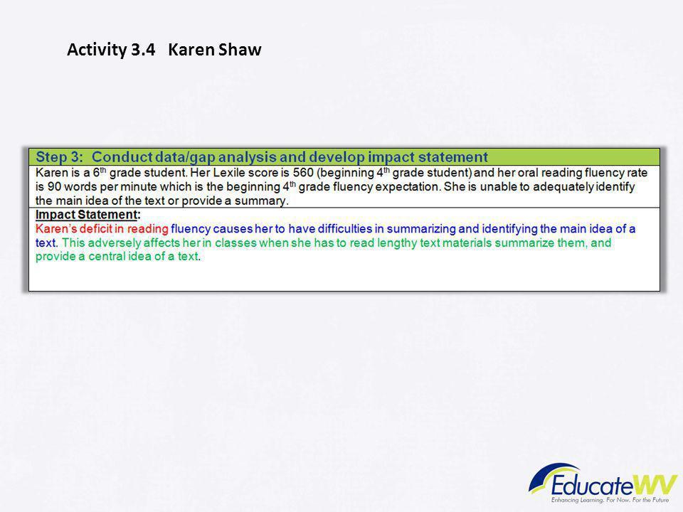 Activity 3.4 Karen Shaw