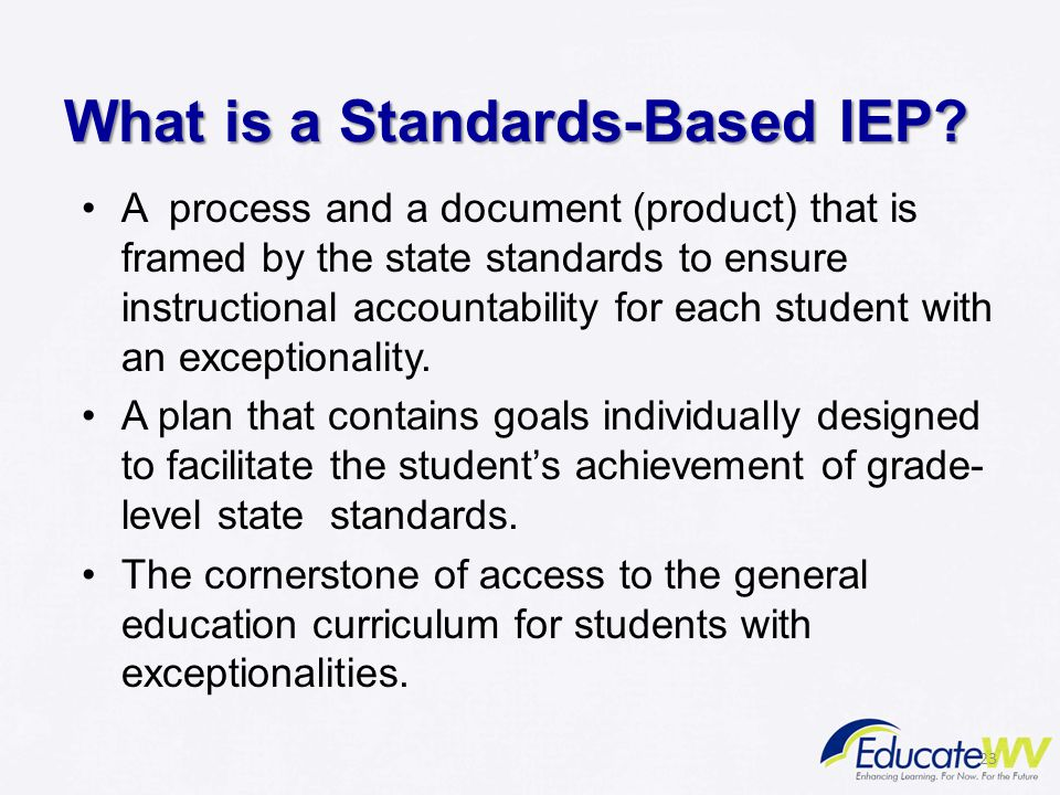 What is a Standards-Based IEP.