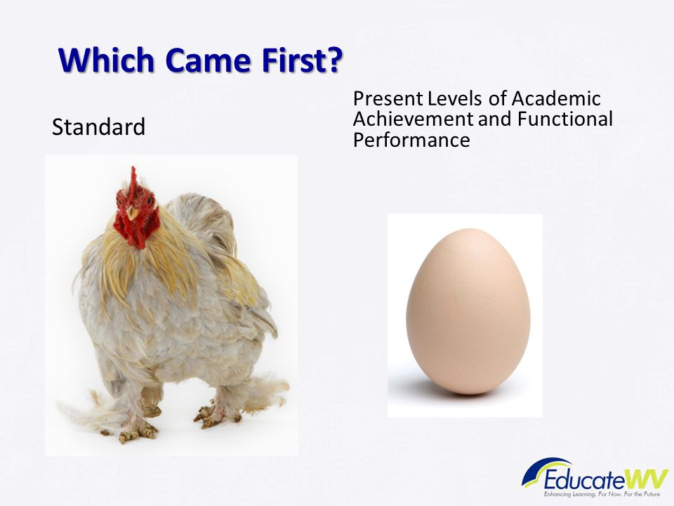 Which Came First? Standard Present Levels of Academic Achievement and Functional Performance