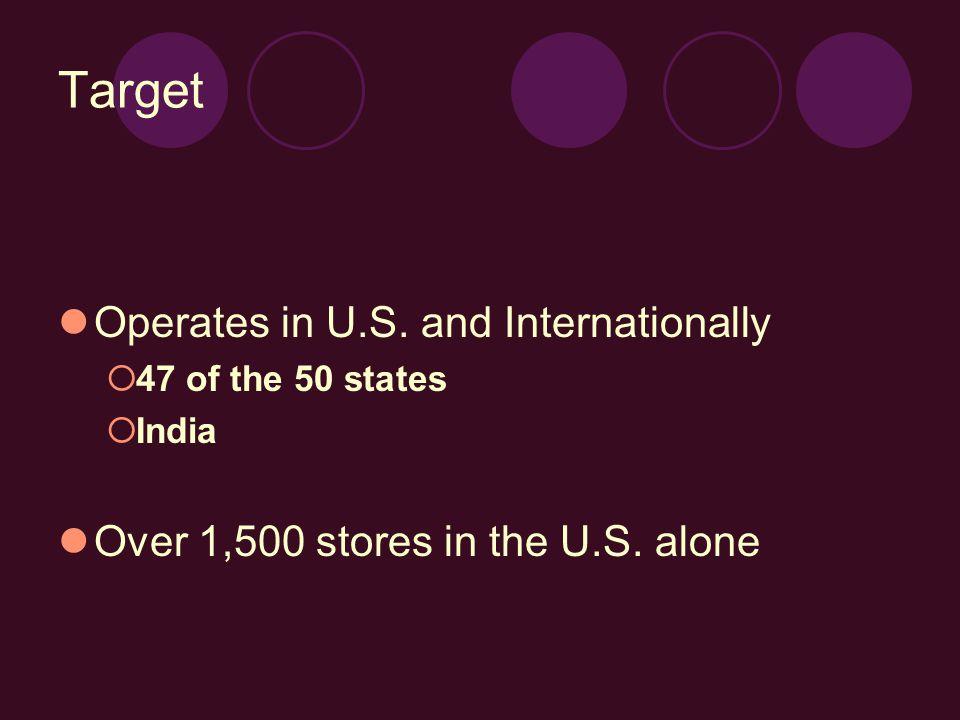 Target Operates in U.S.
