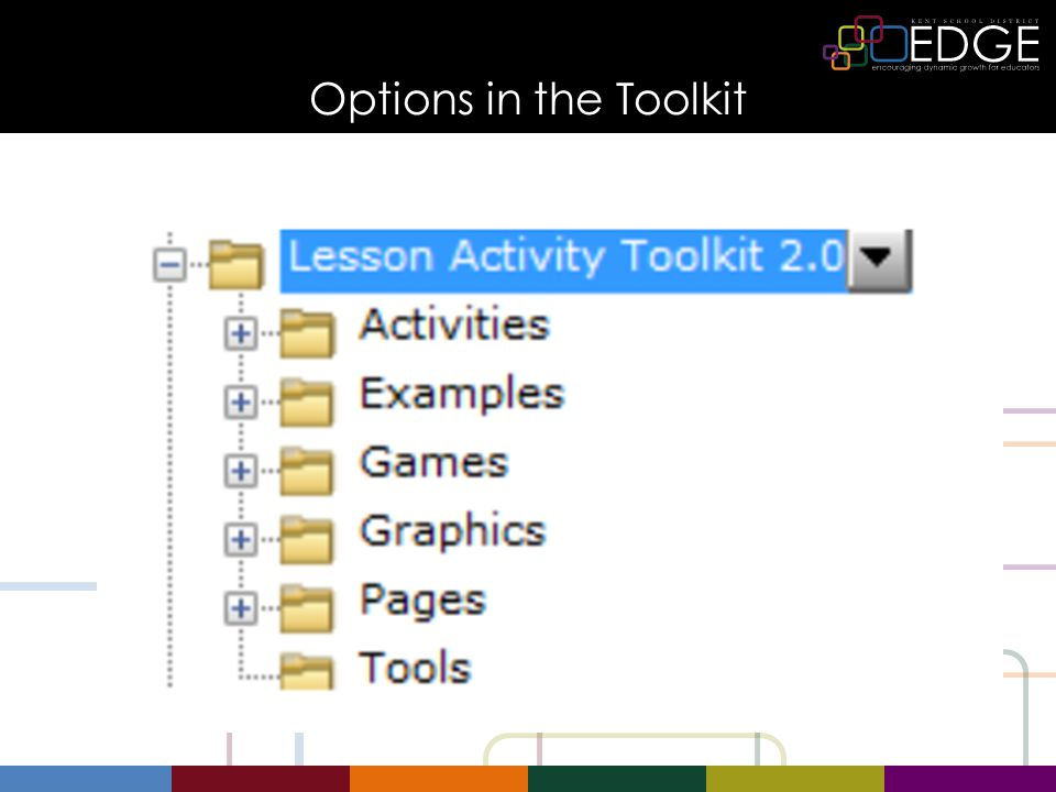 Options in the Toolkit