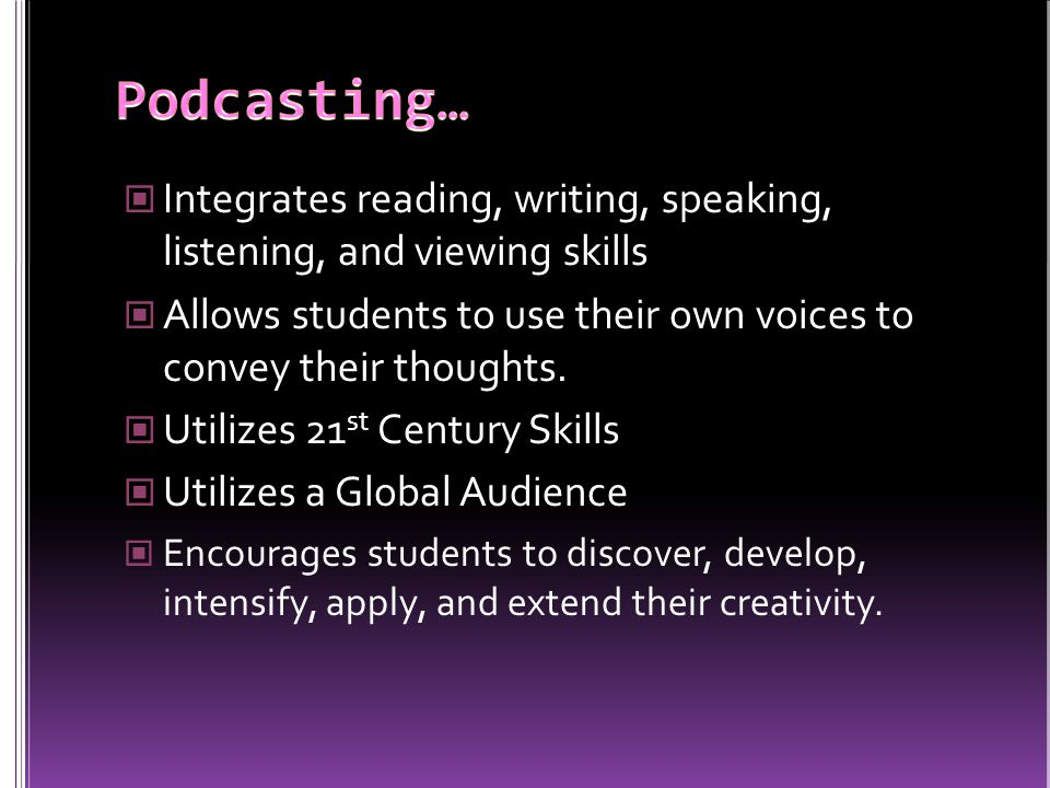 Jamestown Elementary Podcasting for Teachers Compilation of Student Created Podcasts Radio WillowWeb This is an excellent resource for how to podcast.