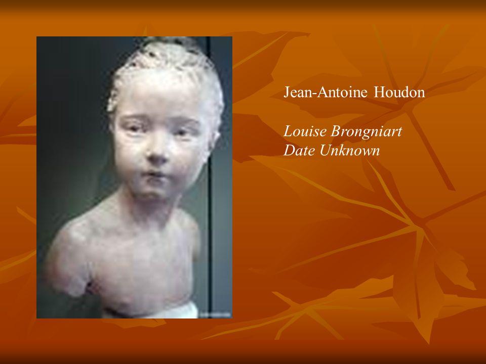 Jean-Antoine Houdon Louise Brongniart Date Unknown