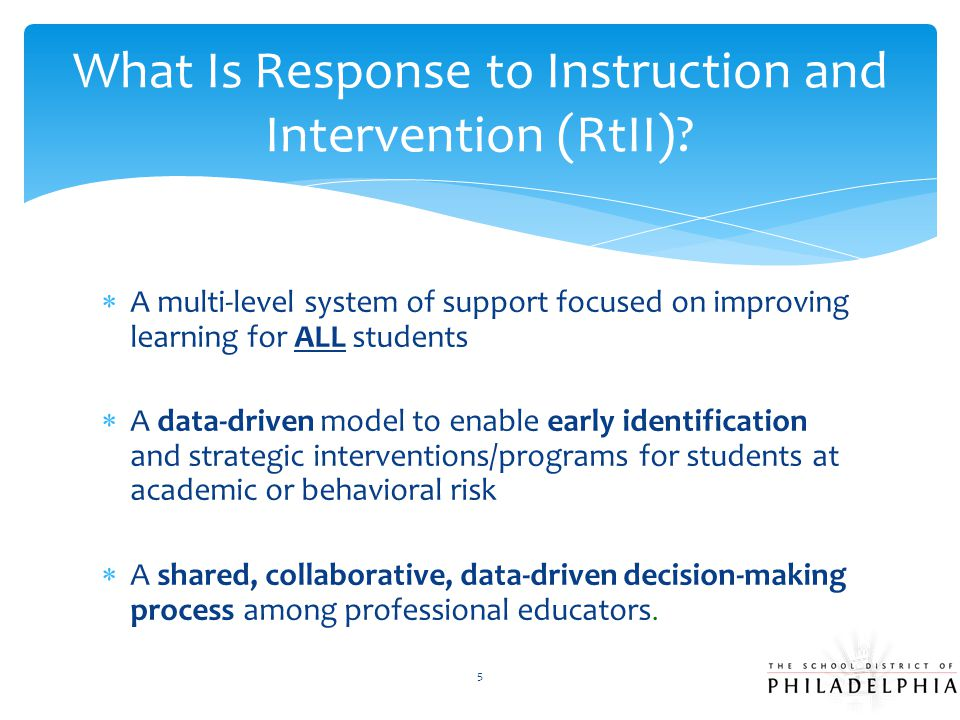 Special Education Liaison - SEL  Collaborates with RTII Leadership Team on the coordination, delivery, and monitoring of interventions/programs that are appropriate both for students in the RTII process and the special education process.