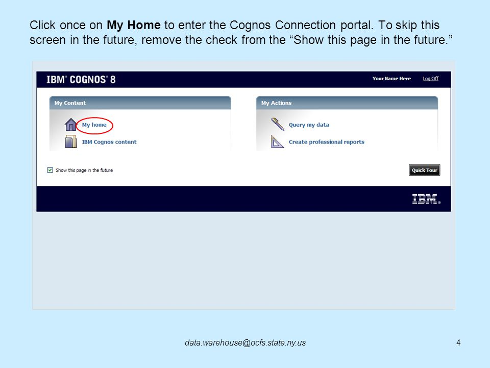 To re-run the report, click on the Run button on the Cognos Viewer toolbar.