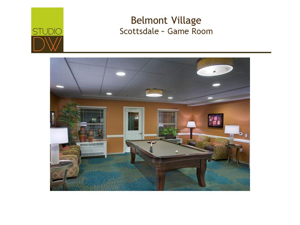 Belmont Village Scottsdale ~ Game Room