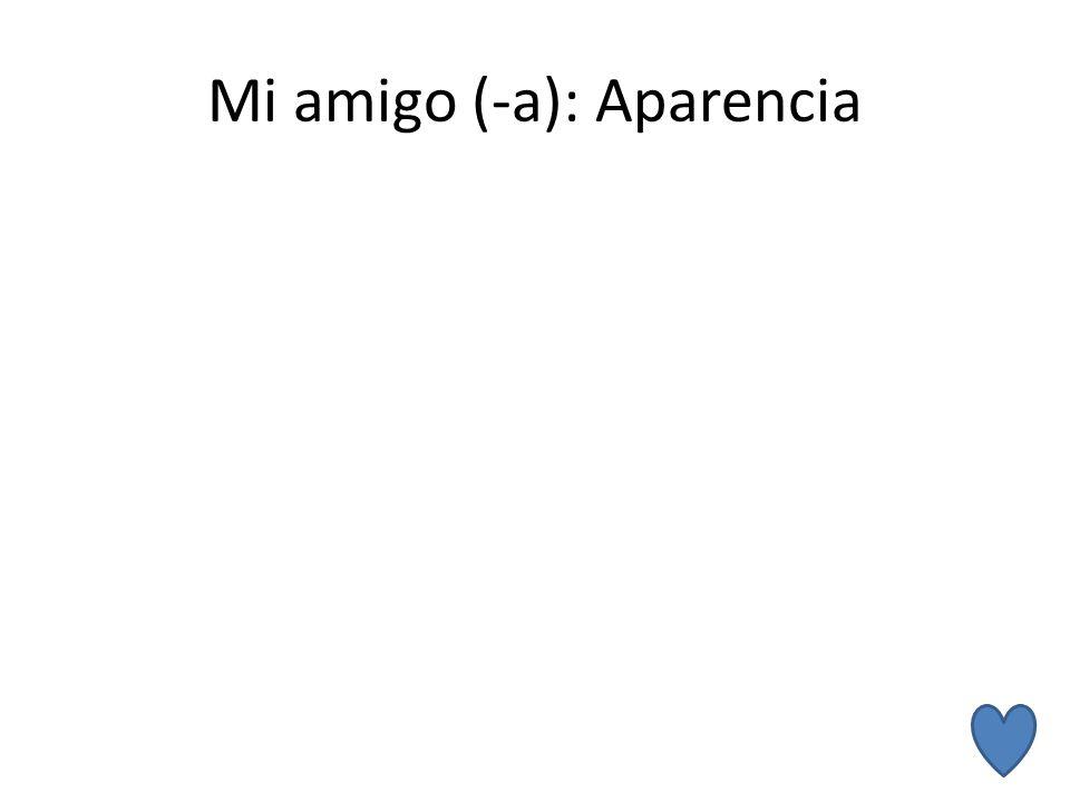 Mi amigo (-a): Aparencia