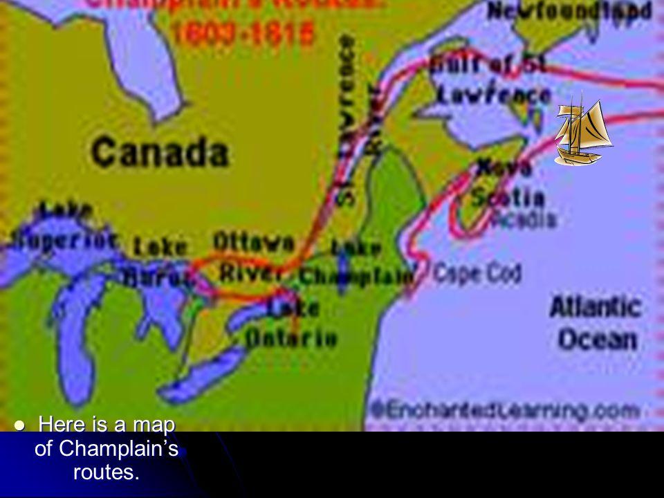 Samuel de champlains map