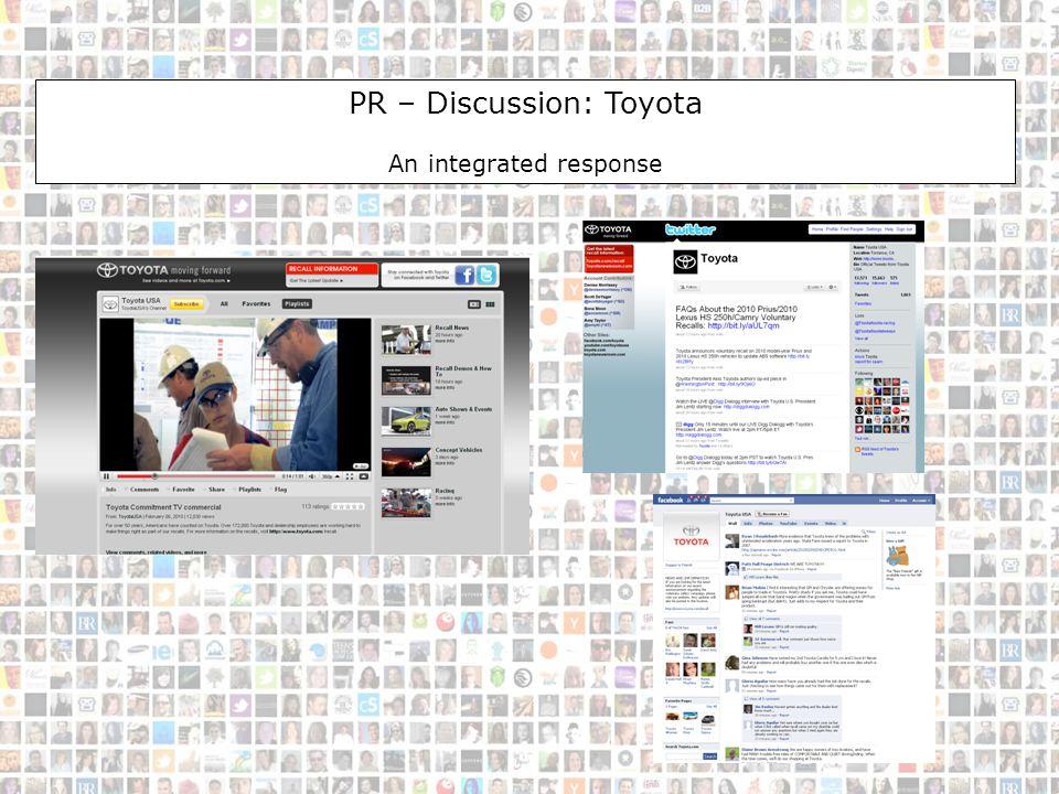 PR-Discussion-Toyota PR – Discussion: Toyota An integrated response