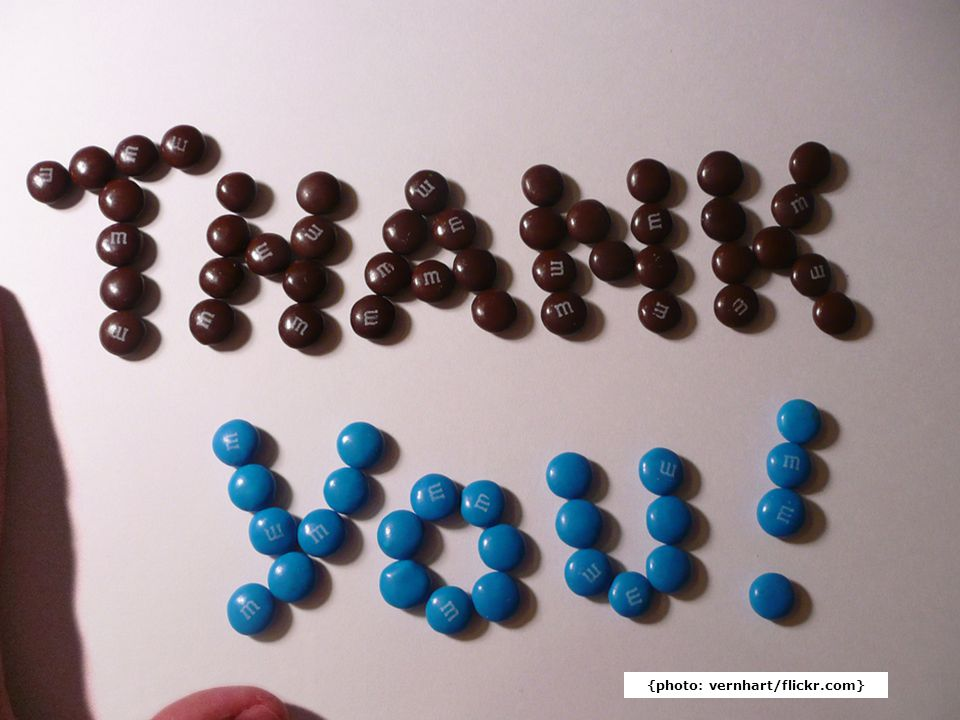 Thank You {photo: vernhart/flickr.com}