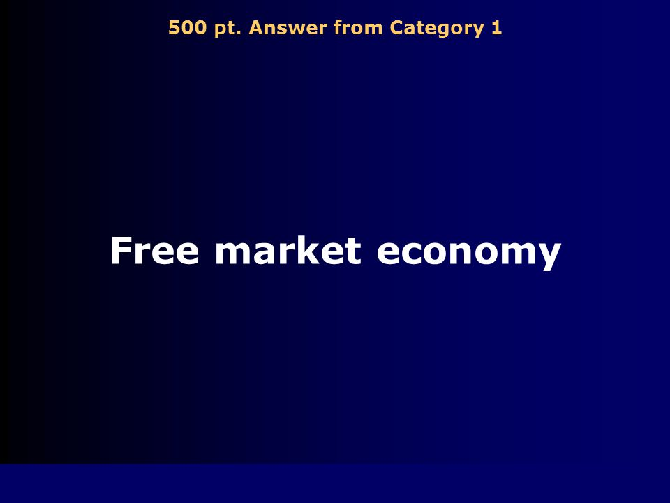 500 pt. Question from Category 1 Economic system of the U.S.