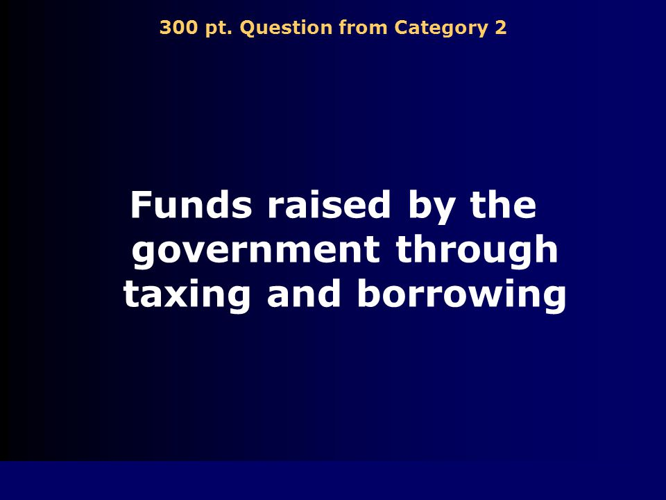 200 pt. Answer from Category 2 income