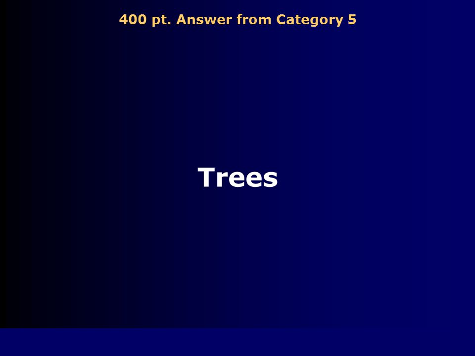 400 pt. Question from Category 5 Which of the following is a natural resource.