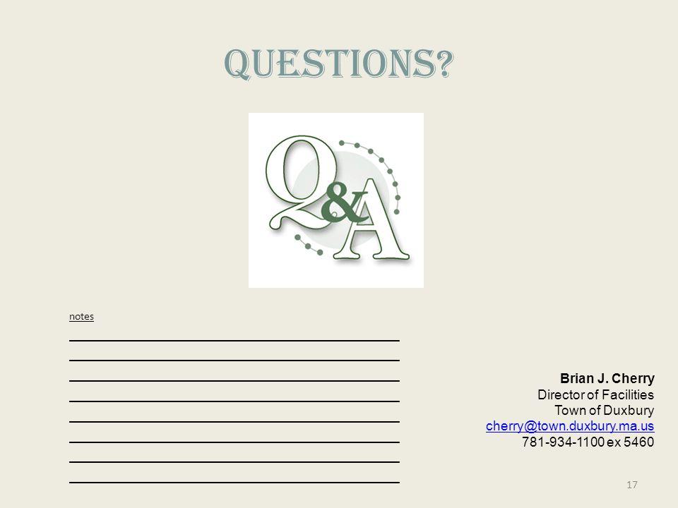 QUESTIONS.Brian J.