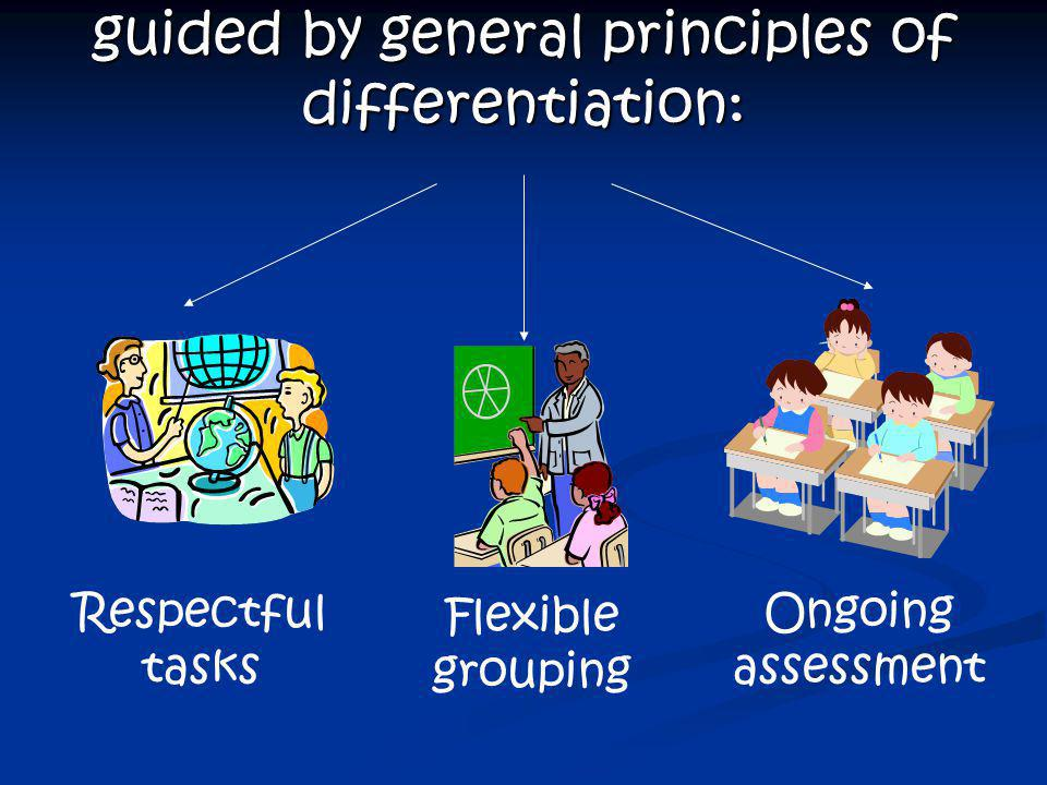 Teachers can differentiate by: content process product