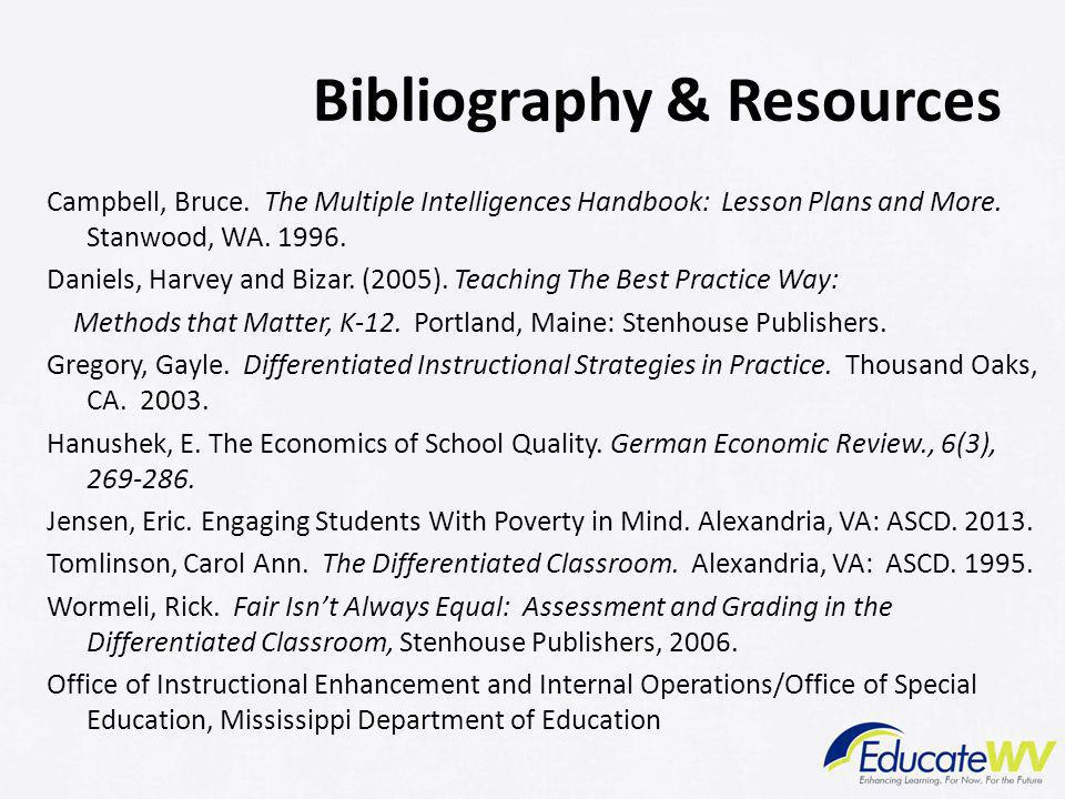 Bibliography & Resources Campbell, Bruce.