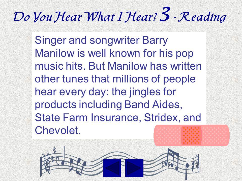 Do You Hear What I Hear By Paul Provencio, Townsend Elementary T3