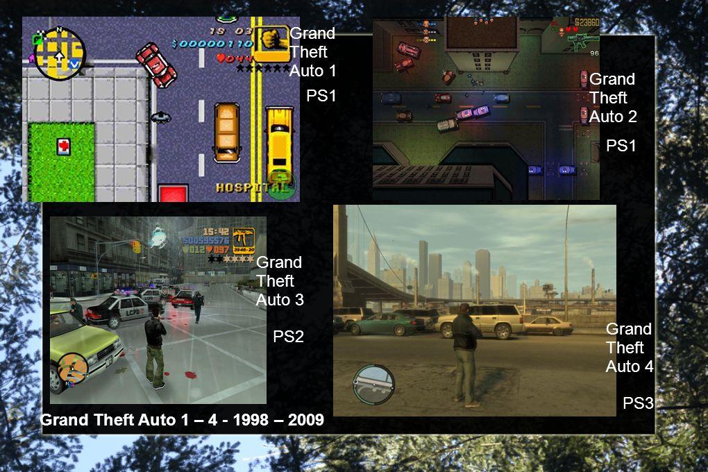 Grand Theft Auto 1 Grand Theft Auto 2 Grand Theft Auto 3 Grand Theft Auto 4 PS1 PS2 PS3 Grand Theft Auto 1 – 4 - 1998 – 2009