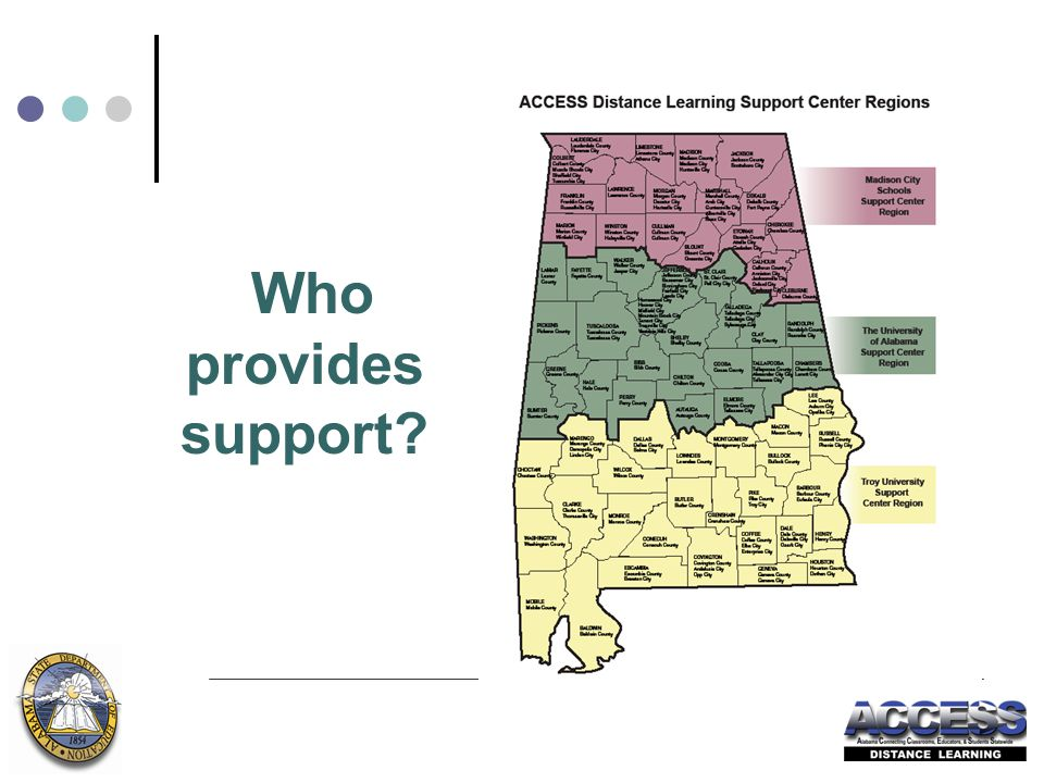 Who provides support?