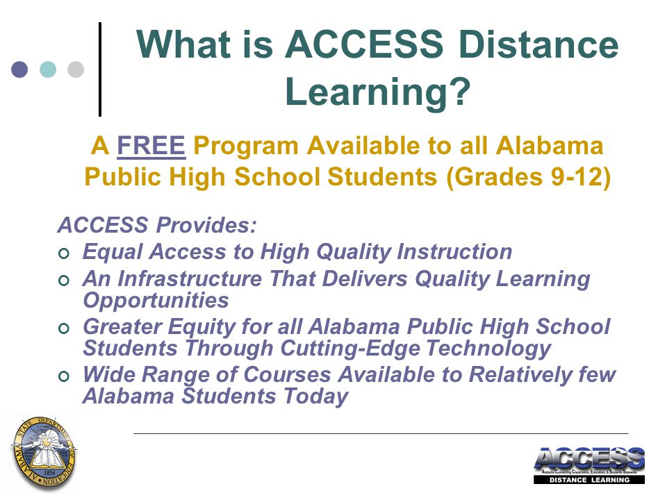 What is ACCESS Distance Learning.