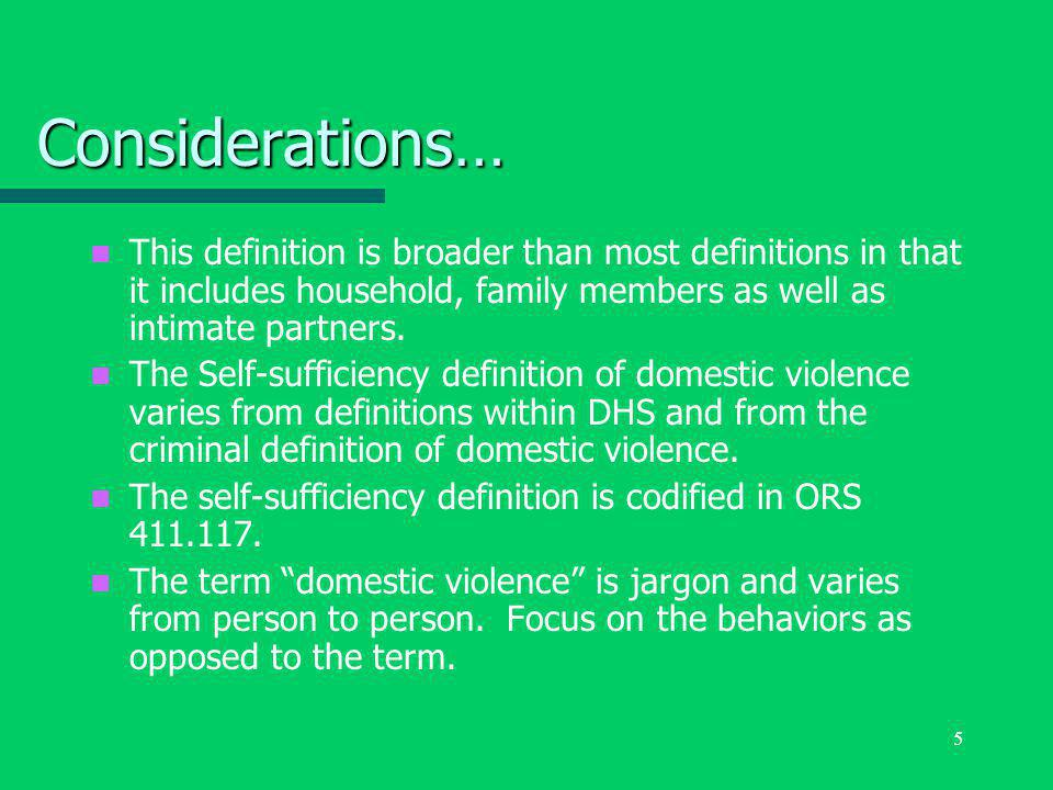 6 What is the greatest risk factor for being a victim of domestic violence.