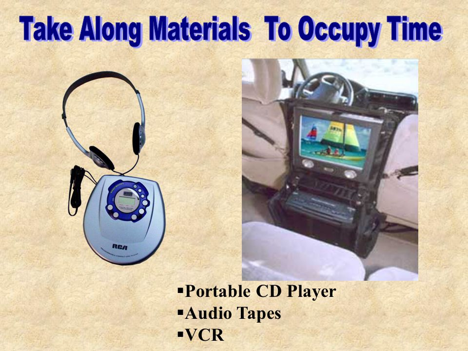  Portable CD Player  Audio Tapes  VCR