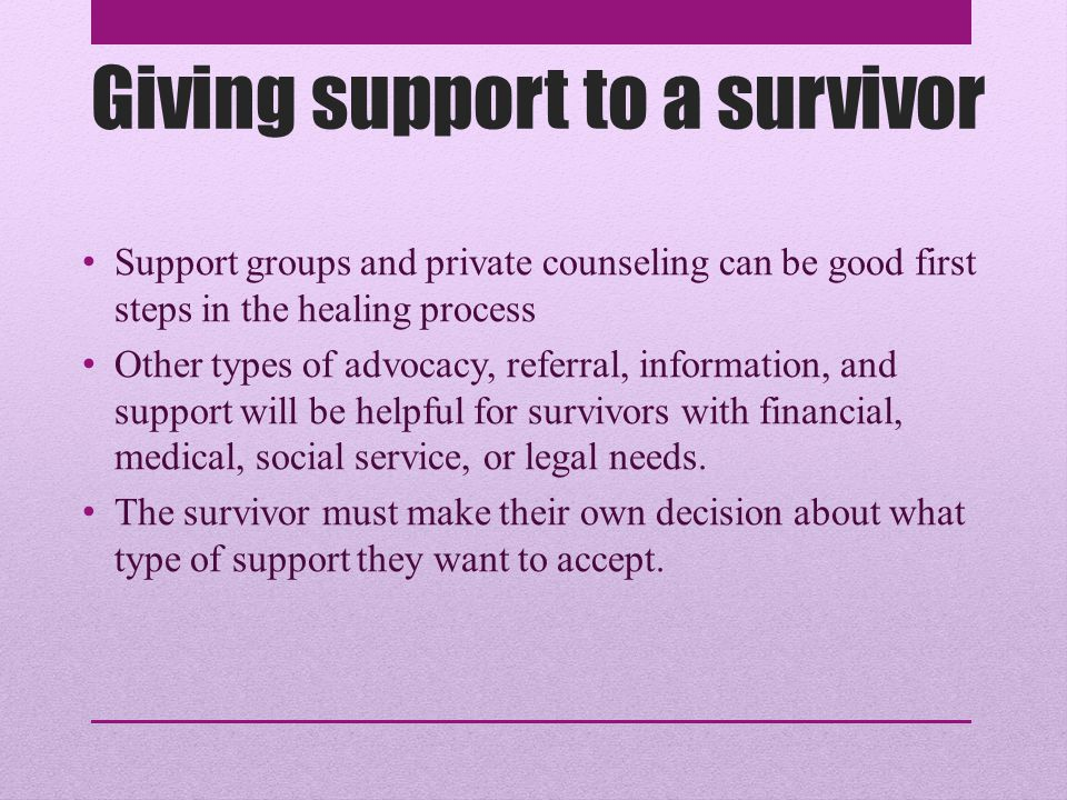 How to Help Survivors