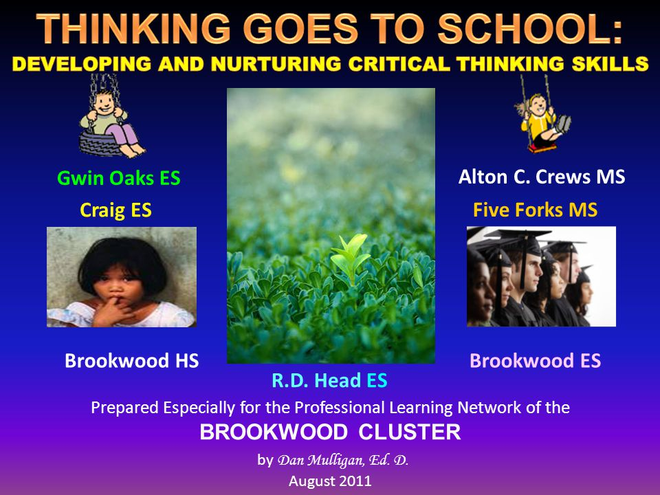 Prepared Especially for the Professional Learning Network of the BROOKWOOD CLUSTER by Dan Mulligan, Ed.